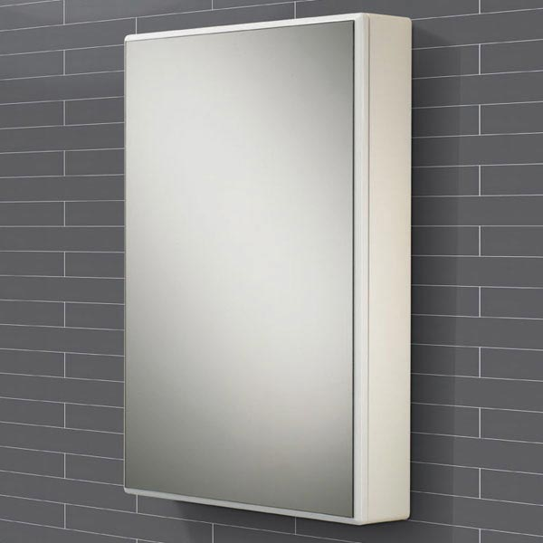HIB Tulsa Gloss White Mirror Cabinet - 9101600 profile large image view 1