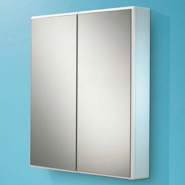 HIB Jersey Gloss White Mirror Cabinet - 9101700 Large Image