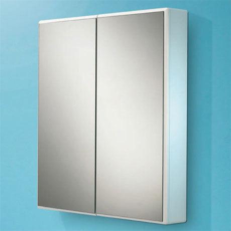 HIB Jersey Gloss White Mirror Cabinet - 9101700
