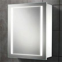 HIB Austin LED Gloss White Mirror Cabinet - 9101900 Medium Image