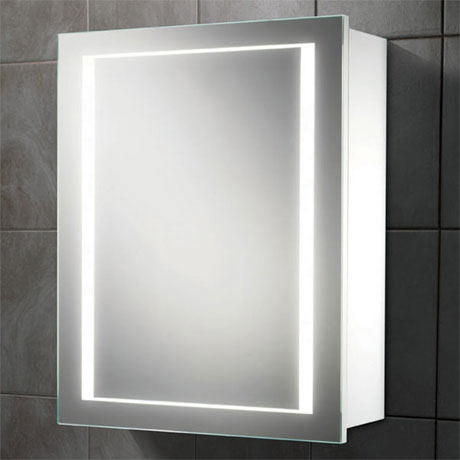 HIB Austin LED Gloss White Mirror Cabinet - 9101900