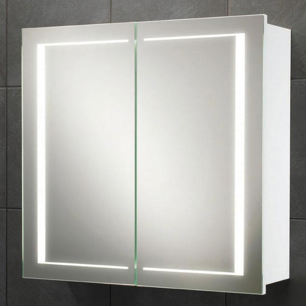 HIB Colorado LED Gloss White Mirror Cabinet - 9102000 Large Image