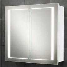 HIB Colorado LED Gloss White Mirror Cabinet - 9102000 Medium Image