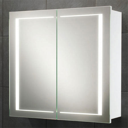 HIB Colorado LED Gloss White Mirror Cabinet - 9102000