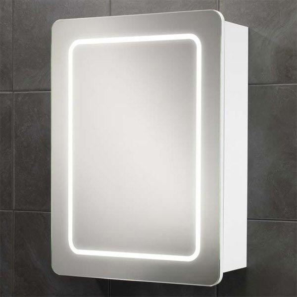 HIB Orlando LED Gloss White Mirror Cabinet - 9102300 Large Image