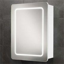 HIB Orlando LED Gloss White Mirror Cabinet - 9102300 Medium Image