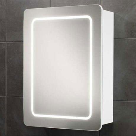 HIB Orlando LED Gloss White Mirror Cabinet - 9102300
