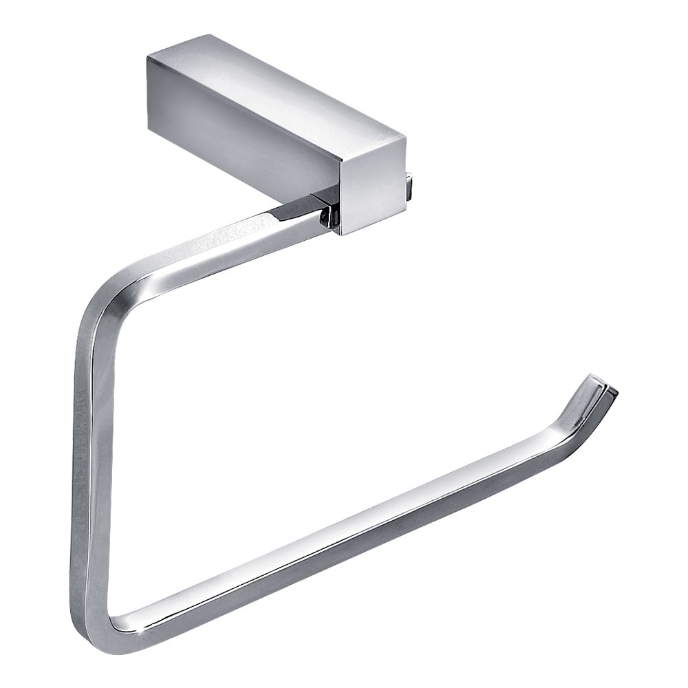 Vela Towel Ring - Chrome Large Image