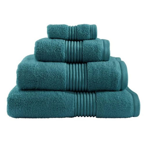 Catherine Lansfield - Zero Twist Towel - Teal - Various Size Options Large Image