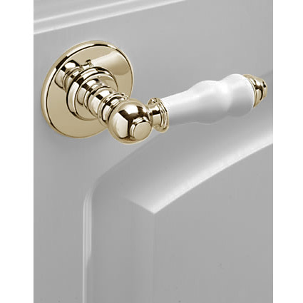 Tre Mercati - Traditional Series 900 (Extended) Cistern Lever - Antique Gold Plated profile large image view 2