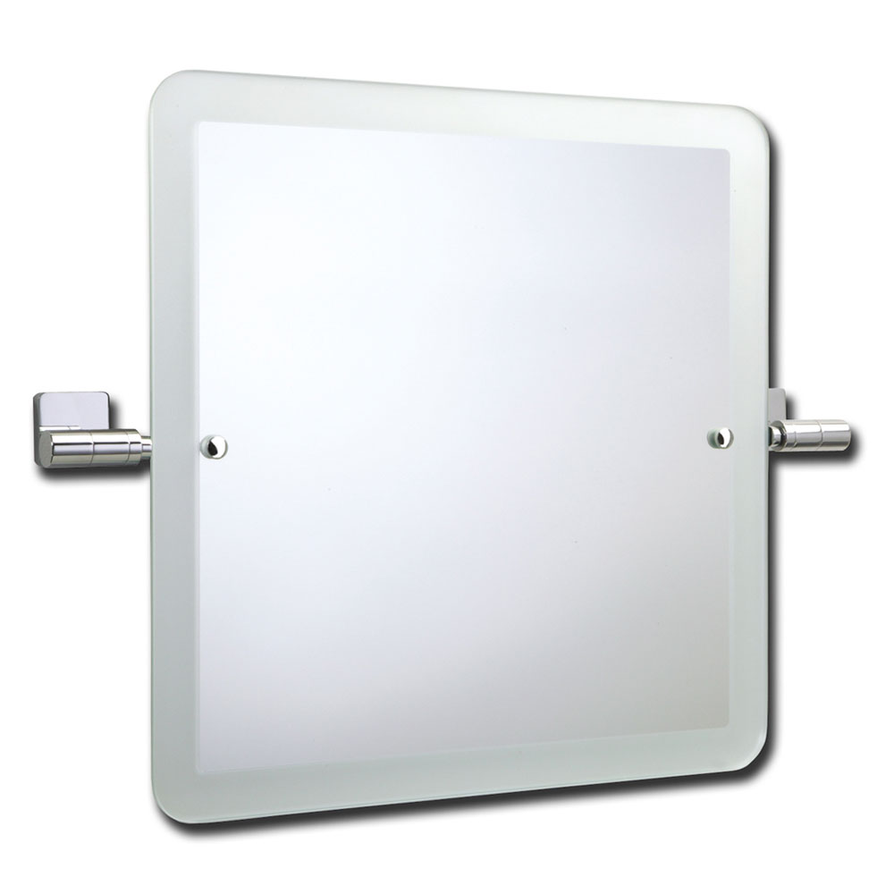 Roper Rhodes Glide Square Swivel Mirror with Frosted Edge - 9504.02 Large Image