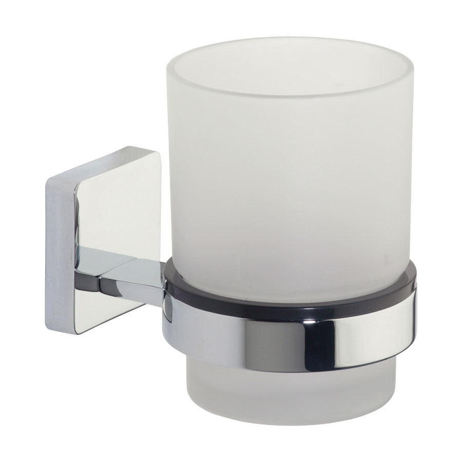 Roper Rhodes Glide Frosted Glass Toothbrush Holder - 9516.02 Large Image