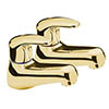 Tre Mercati - Modena Pair Basin Taps - Antique Gold Plated - 95210 profile small image view 1