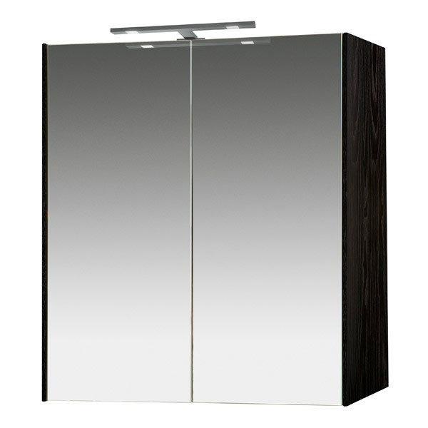 Miller - Nova 60 Illuminated Mirror Cabinet - Black Large Image