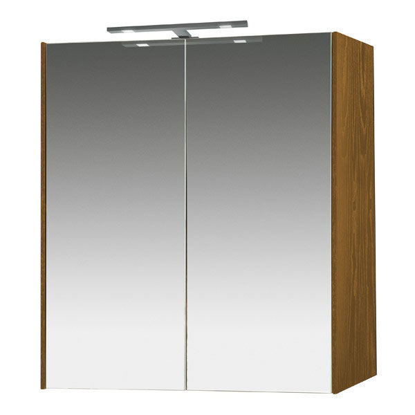 Miller - Nova 60 Illuminated Mirror Cabinet - Oak Large Image