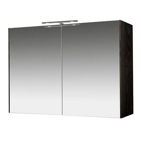 Miller - Nova 80 Illuminated Mirror Cabinet - Black