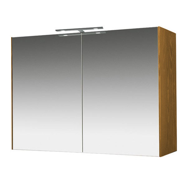 Miller - Nova 80 Illuminated Mirror Cabinet - Oak Large Image