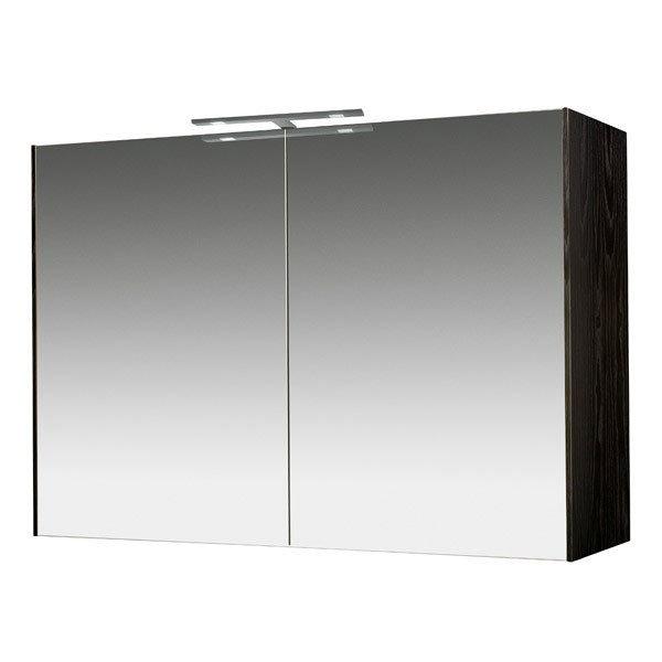 Miller - Nova 100 Illuminated Mirror Cabinet - Black profile large image view 1