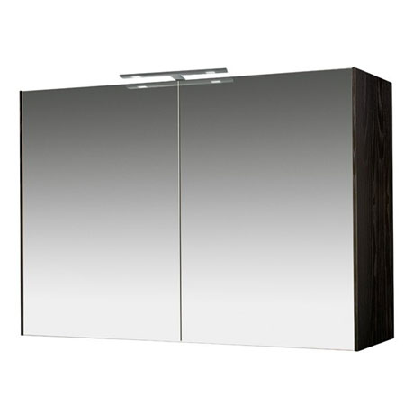 Miller - Nova 100 Illuminated Mirror Cabinet - Black
