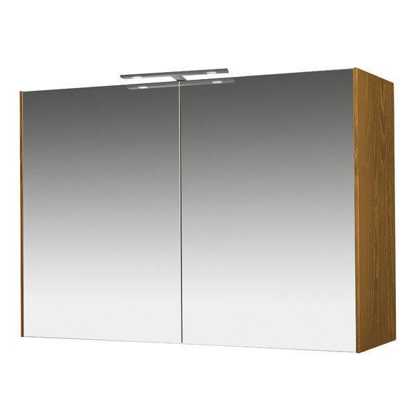 Miller - Nova 100 Illuminated Mirror Cabinet - Oak Large Image