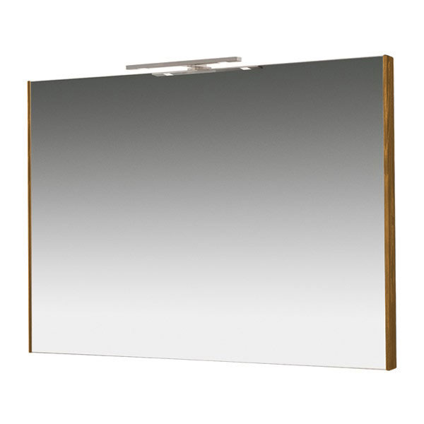 Miller - Nova 80 Illuminated Mirror - Oak Large Image