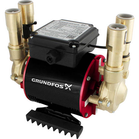 Grundfos Amazon STP-1.5 B Brass Twin Impeller Regenerative Shower Booster Pump 1.5 Bar