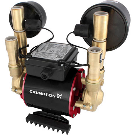 Grundfos Amazon STN-1.5 B Universal Brass Twin Impeller Regenerative Shower Booster Pump 1.5 Bar