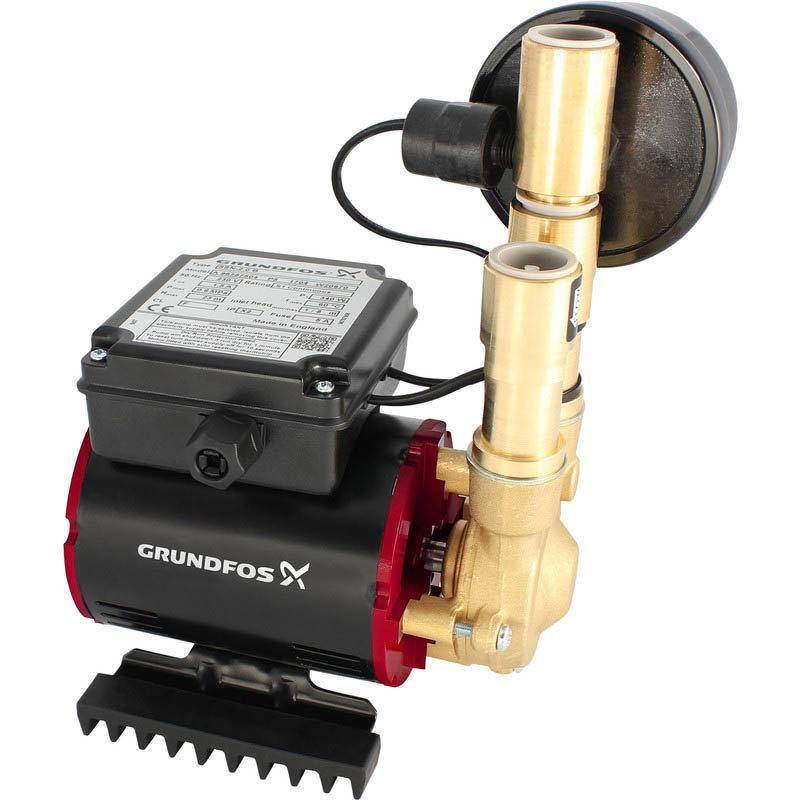 Grundfos Amazon SSN-3.0 B Universal Brass Single Impeller Regenerative Shower Booster Pump 3.0 Bar