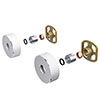 Cruze Round Easy Fix Kit Bracket for Bar Shower Valves profile small image view 1