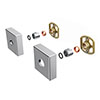 Square Easy Fix Kit Bracket for Bar Shower Valves profile small image view 1
