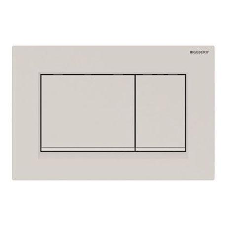 Geberit Sigma30 Dual Flush Plate - Matt White - 980.012.01.1