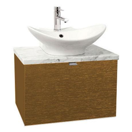 Miller - Nova 60 Wall Hung Single Drawer Vanity Unit with Carrara Marble Worktop & Ceramic Basin - O