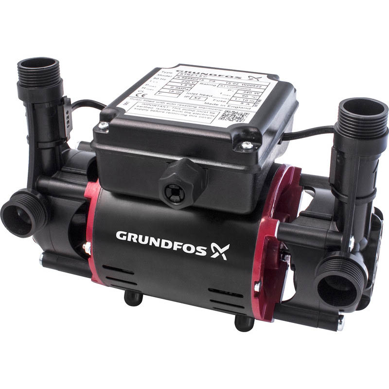 Grundfos STR2-2.0 C Twin Impeller Regenerative Shower Booster Pump | Victorian Plumbing