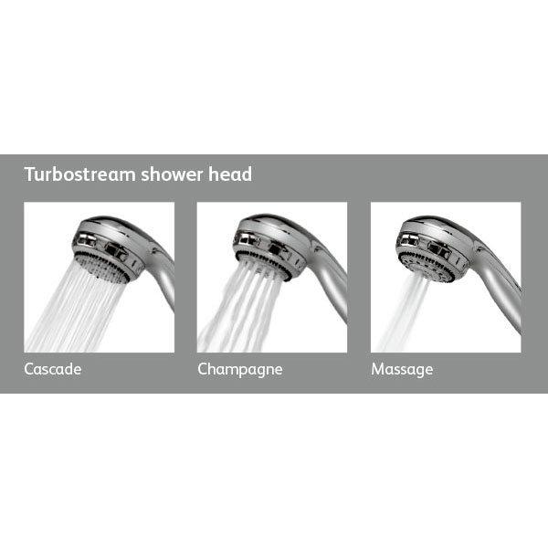 Aqualisa - Turbostream Adjustable Shower Kit - Chrome - 99.20.01 Profile Large Image