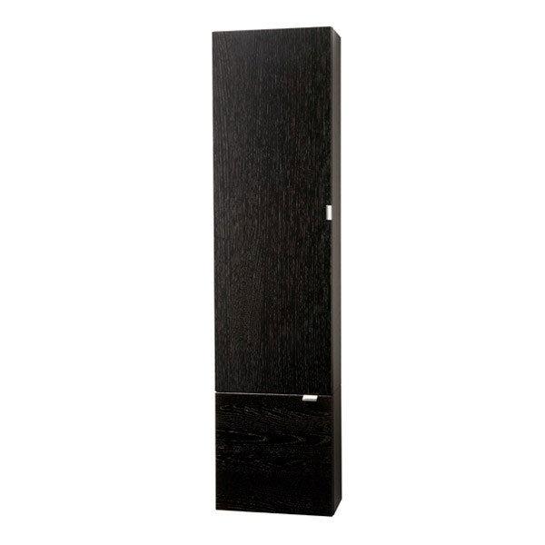 Miller - Nova Two Door Tall Cabinet - Black Large Image