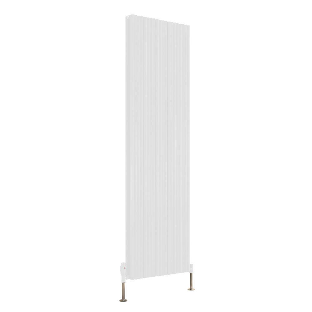 Reina Andes Vertical Double Panel Aluminium Radiator - White Large Image