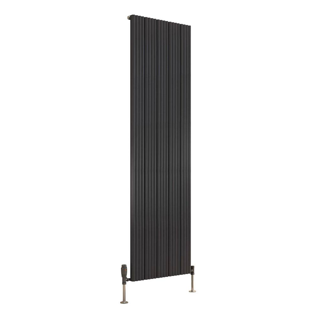 Reina Andes Vertical Single Panel Aluminium Radiator - Anthracite profile large image view 1