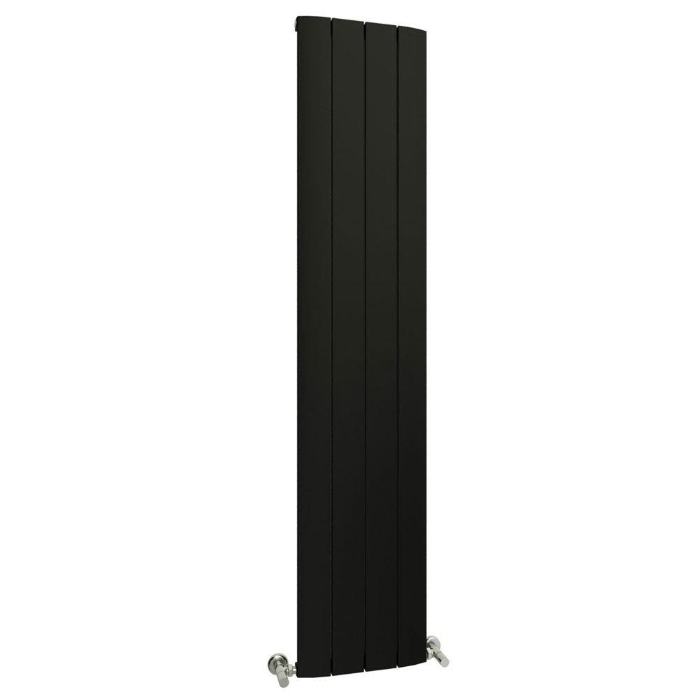 Reina Aleo Vertical Aluminium Radiator - Black Large Image