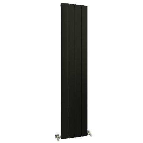 Reina Aleo Vertical Aluminium Radiator - Black