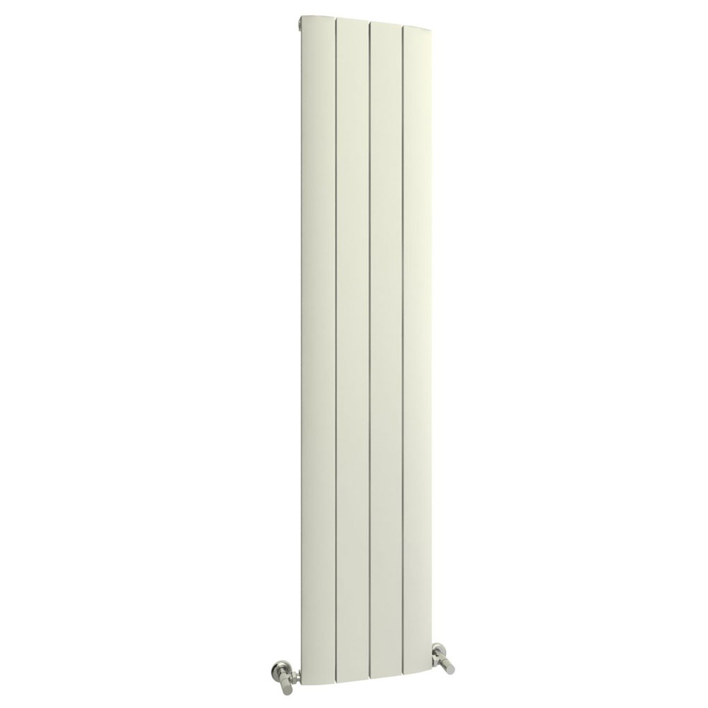 Reina Aleo Vertical Aluminium Radiator - White profile large image view 1