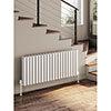 Reina Alco Horizontal Aluminium Radiator (600mm High) - White profile small image view 1