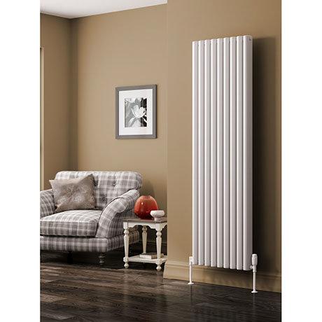 Reina Alco Vertical Aluminium Radiator (1800mm High) - White