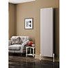 Reina Alco Vertical Aluminium Radiator (1800mm High) - White profile small image view 1