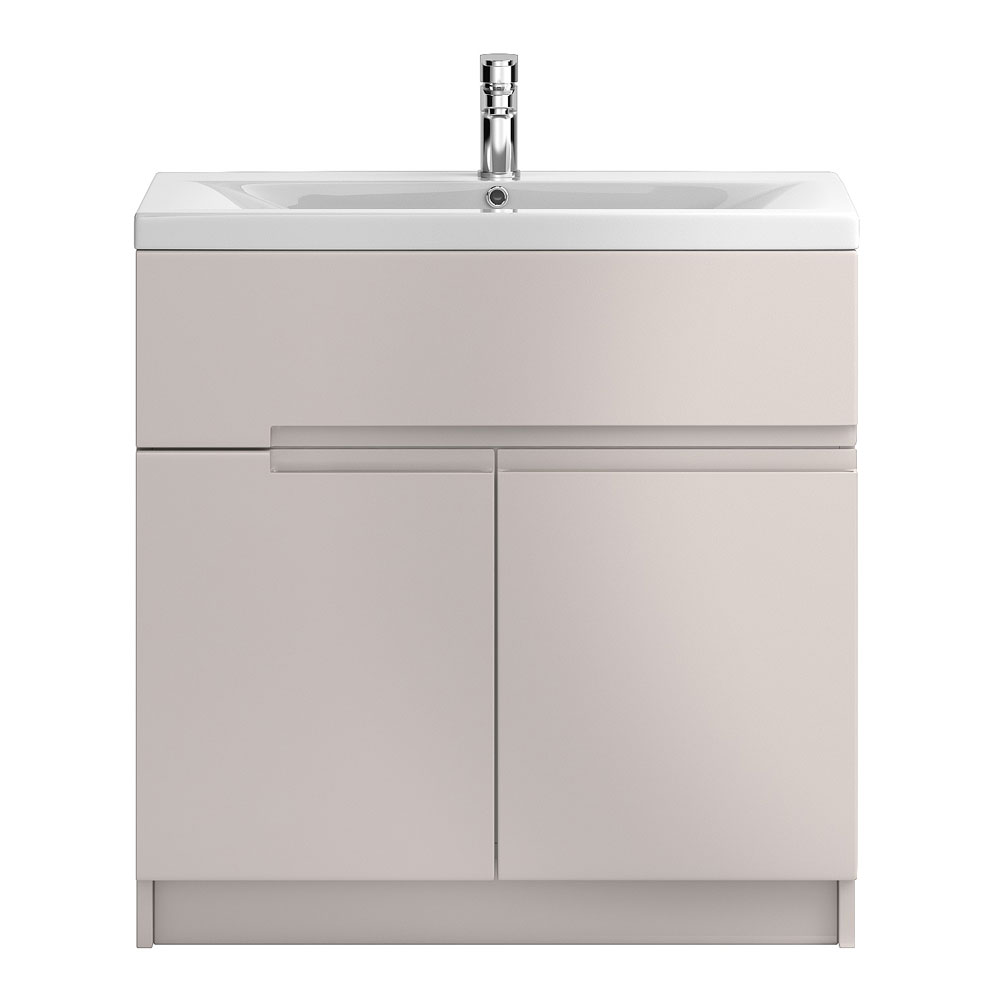 Urban 800mm Floorstanding Vanity Unit with Basin - Cashmere profile large image view 1