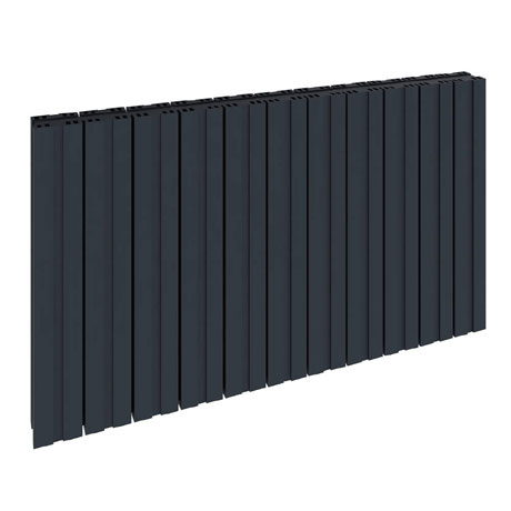 Reina Bova Horizontal Single Panel Aluminium Radiator - Anthracite