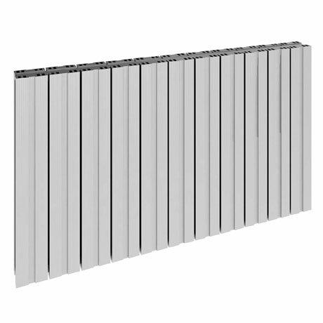 Reina Bova Horizontal Double Panel Aluminium Radiator - Polished
