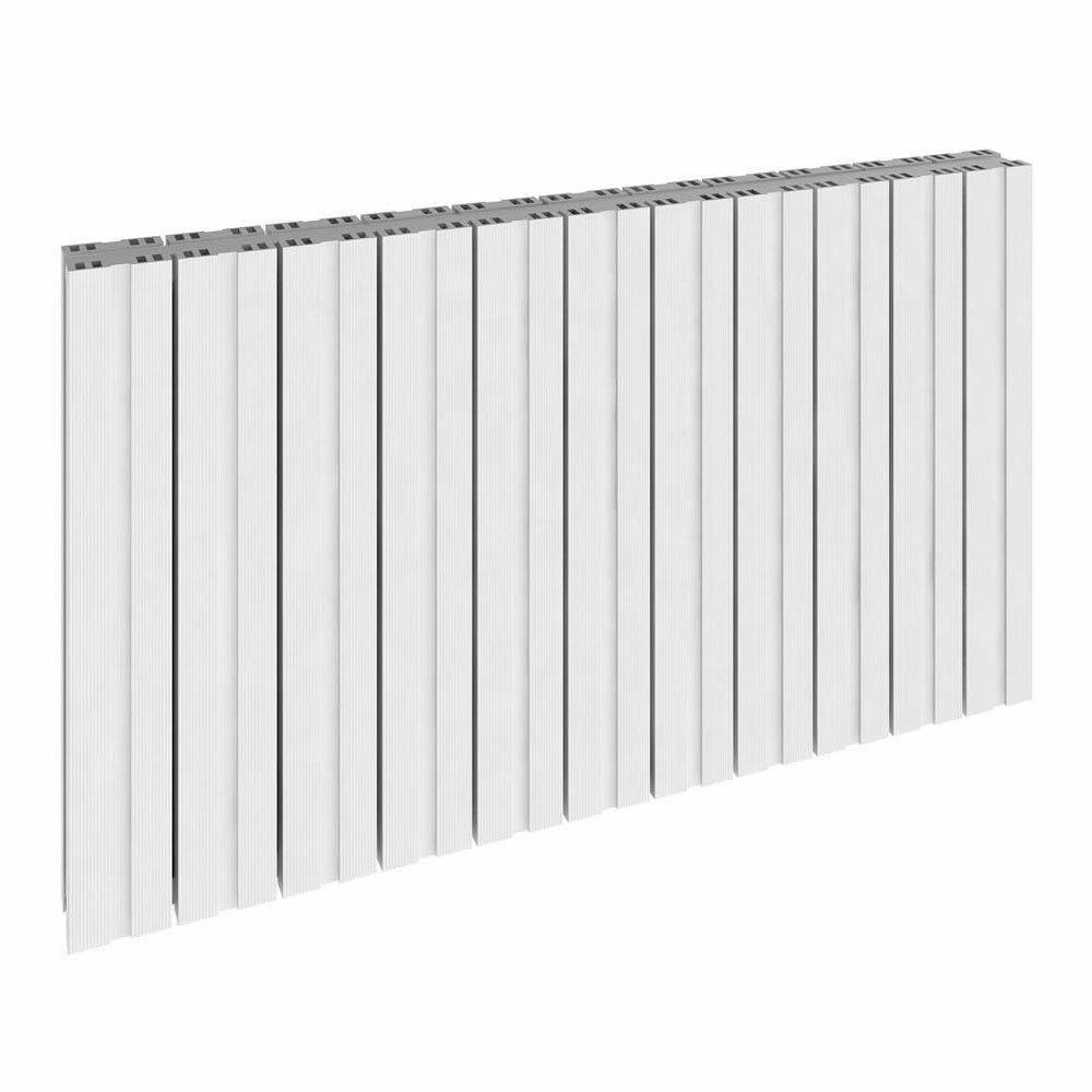 Reina Bova Horizontal Double Panel Aluminium Radiator - White Large Image