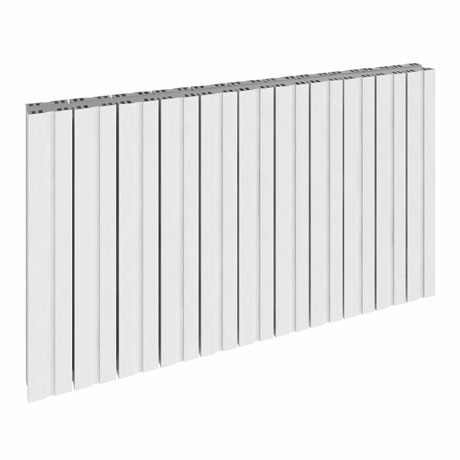 Reina Bova Horizontal Single Panel Aluminium Radiator - White