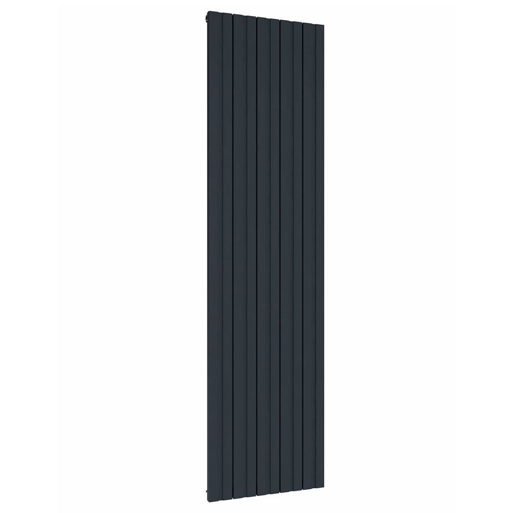 Reina Bova Vertical Single Panel Aluminium Radiator - Anthracite Large Image