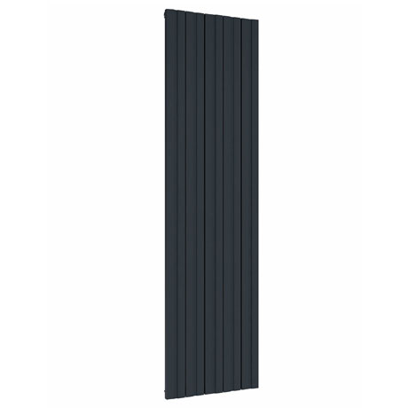 Reina Bova Vertical Double Panel Aluminium Radiator - Anthracite